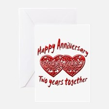 Unique 2nd anniversary Greeting Card