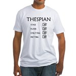 Thespian Checklist Fitted T-Shirt