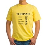 Thespian Checklist Yellow T-Shirt
