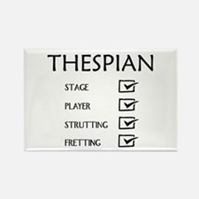 Thespian Checklist Rectangle Magnet (10 pack)
