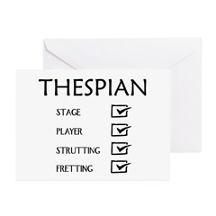 Thespian Checklist Greeting Cards (Pk of 20)
