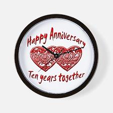 Cool 10th wedding anniversary Wall Clock