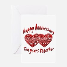 Unique 10th anniversary Greeting Card
