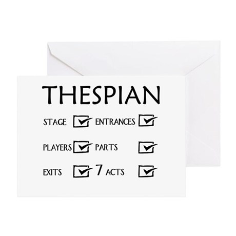Thespian Checklist 3 Greeting Card