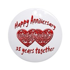 Funny 35th wedding anniversary Ornament (Round)