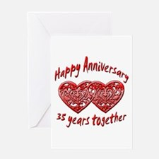 Cute 35th wedding anniversary Greeting Card
