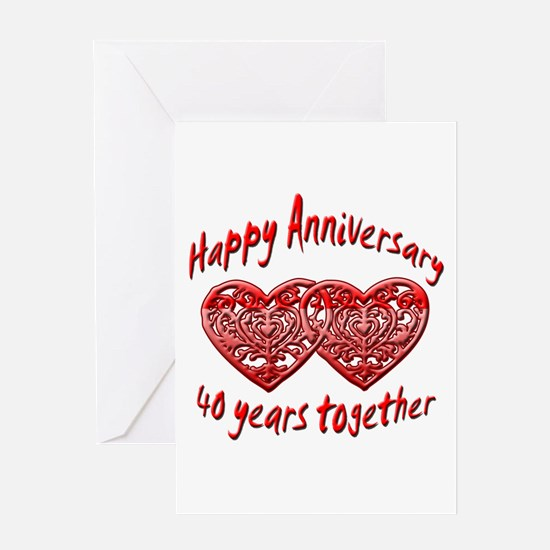 Cute 40th wedding anniversary Greeting Card