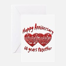 Unique 60th wedding anniversary Greeting Card