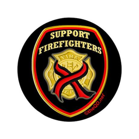 """ThinRedLine SupportFirefighte 3.5"""" Button (100 pac"""
