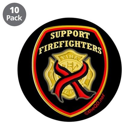 "ThinRedLine SupportFirefighte 3.5"" Button (10 pack"