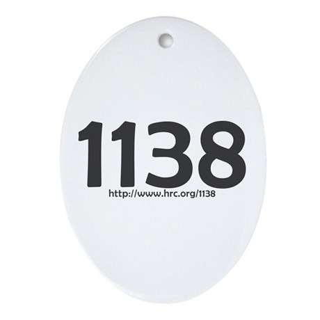 1138 Rights Denied Oval Ornament