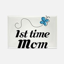 Pretty 1st Time Mom Rectangle Magnet
