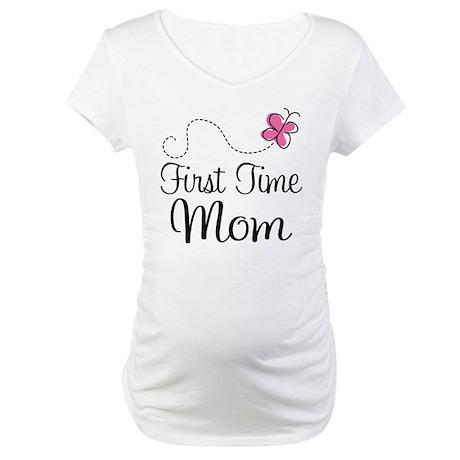 Fun 1st Time Mom Maternity T-Shirt