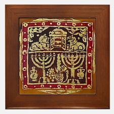 Old Jewish Symbols Framed Tile