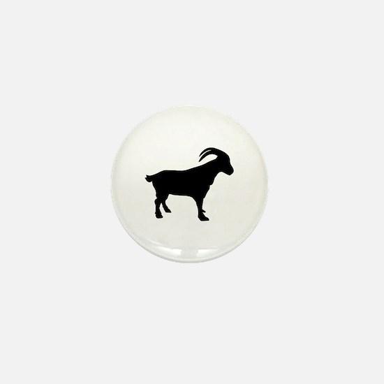 Mountain goat Mini Button