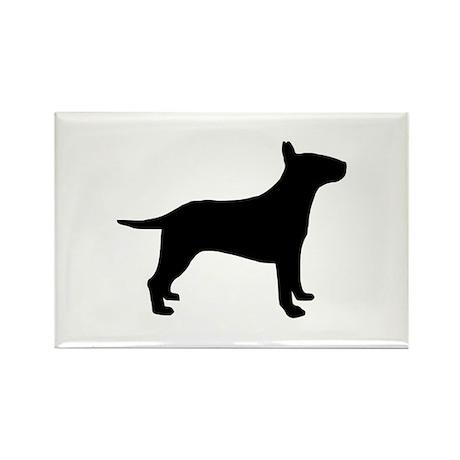 Bull terrier Rectangle Magnet (10 pack)