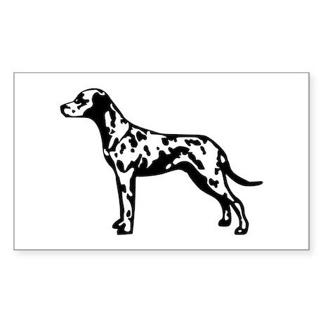 Dalmatian Sticker (Rectangle)