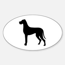 Great Dane Sticker (Oval)