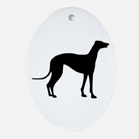Greyhound Ornament (Oval)
