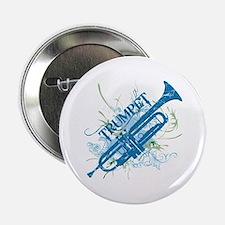 """Cool Grunge Trumpet 2.25"""" Button"""