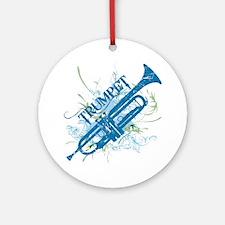 Cool Grunge Trumpet Ornament (Round)