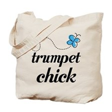 Cute Trumpet Chick Tote Bag