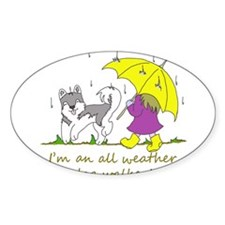 Cute Dog walker Decal