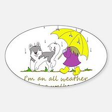 Cute Dog walker Sticker (Oval)