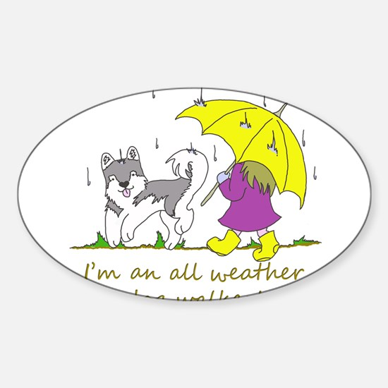 Unique Dog walker Sticker (Oval)