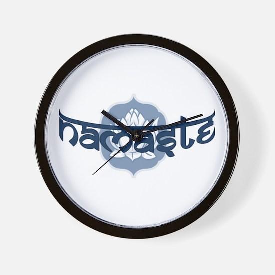 Namaste Lotus - Blue Wall Clock