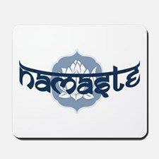Namaste Lotus - Blue Mousepad