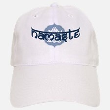 Namaste Lotus - Blue Baseball Baseball Cap