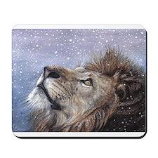 Winter Lion Mousepad