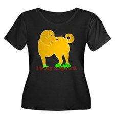 Golden Tripawd Love Women's Plus Size Scoop Dark T