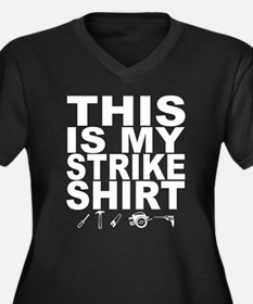 This Is My Strike Shirt Women's Plus Size V-Neck D