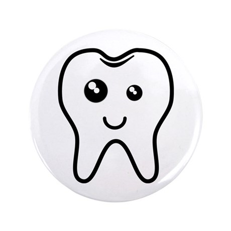 "The Tooth 3.5"" Button (100 pack)"