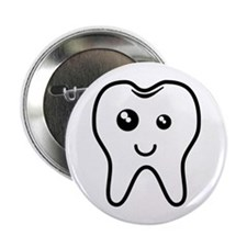 "The Tooth 2.25"" Button"