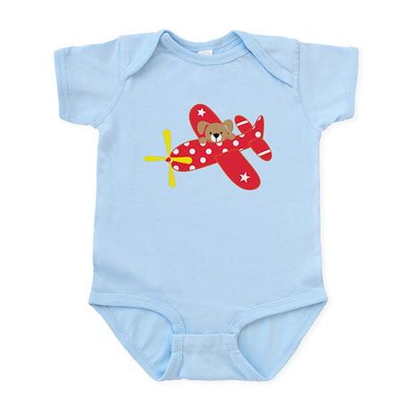 Airplane Puppy Infant Bodysuit