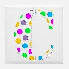 The Letter 'C' Tile Coaster