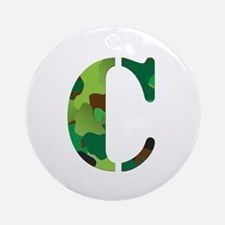 The Letter 'C' Ornament (Round)