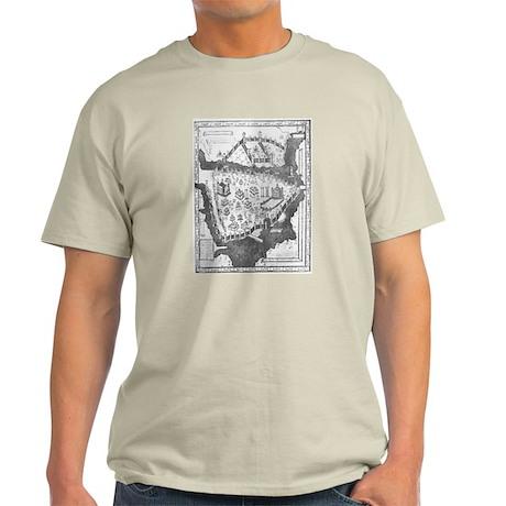 Constantinople Map Light T-Shirt