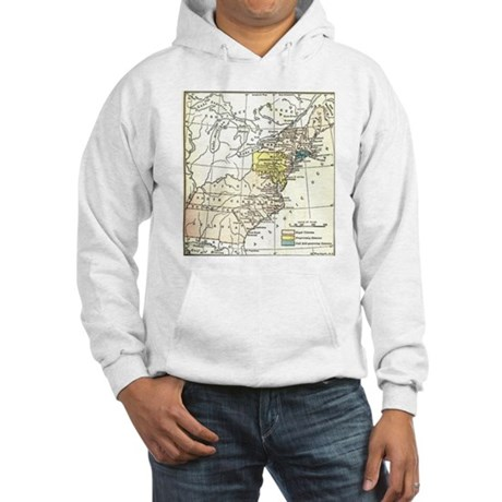 Colonial America Map Hooded Sweatshirt