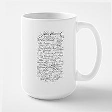 Declaration of Independence S Large Mug
