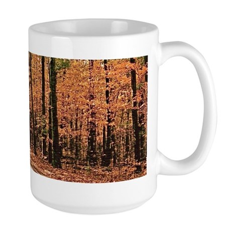 Country Road Fall Scene Large Mug