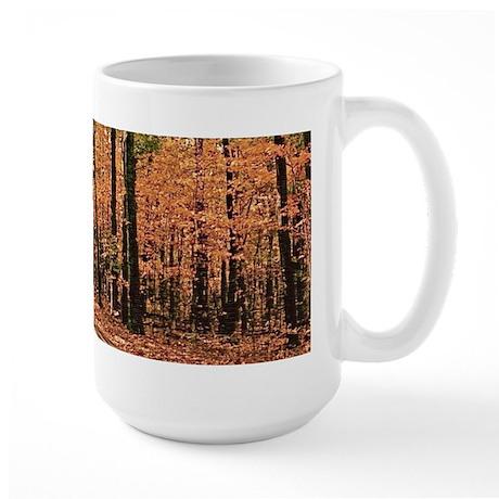 Country Road Fall Scene Large Mug