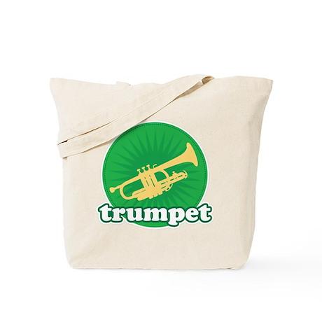 Green Retro Trumpet Tote Bag