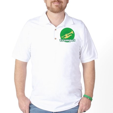 Green Retro Trumpet Golf Shirt