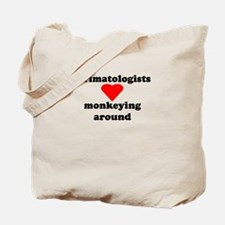 Primatologists monkeying arou Tote Bag