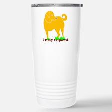 Golden Tripawd Love Stainless Steel Travel Mug