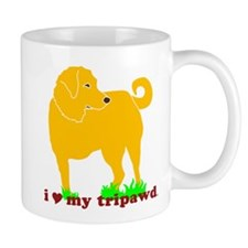 Golden Tripawd Love Mug